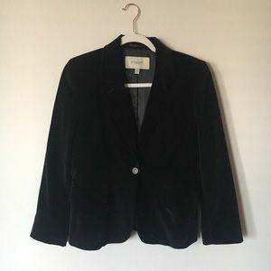 Burberry London Black Velvet Blazer Size 8